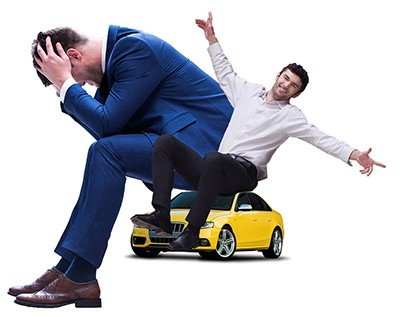 Car Salesman and Dissatisfied Customer